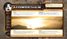Atomdesign's vorige website uit 2008